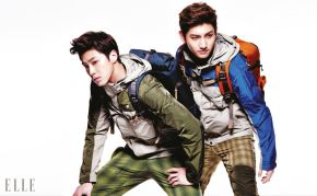 PHOTOS: TVXQ for LaFuma 2013 Spring/Summer Collection on ELLE + LaFuma's facebook cover